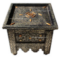 Metal and Bone Square Side Table - MB-ST009