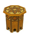 Hand Carved Wood Side Table - CW-ST001