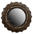 Round Metal and Bone Mirror M-MB020