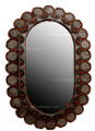 Metal and Bone with Wood Oval Mirror M-MB021