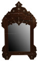 Carved Wood with Mother of Pearl Inlay Mirror M-MOP012
