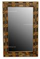 Metal-Bone-Horn Rectangular Mirror M-MB036