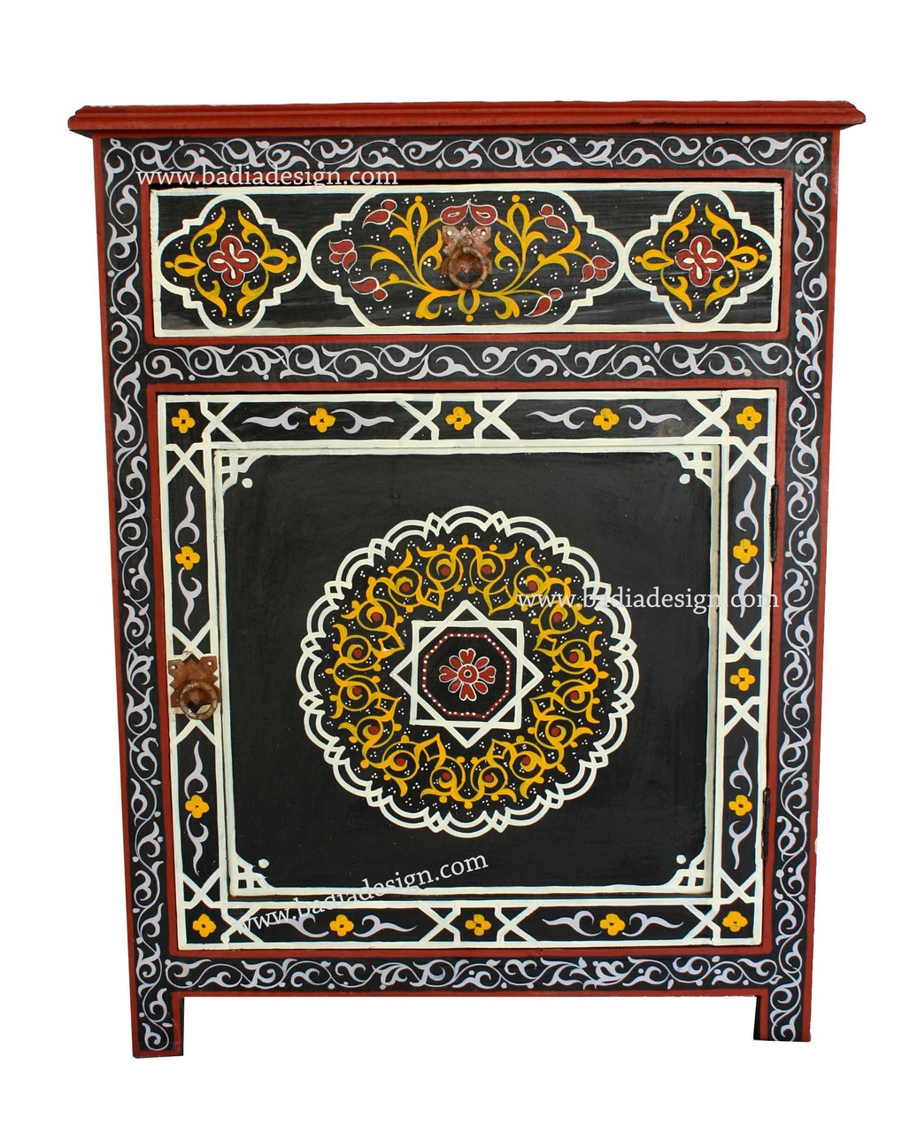 moroccan hand painted cabinet and moroccan hand painted