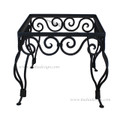 Moroccan Square Wrought Iron Table Base - TB16