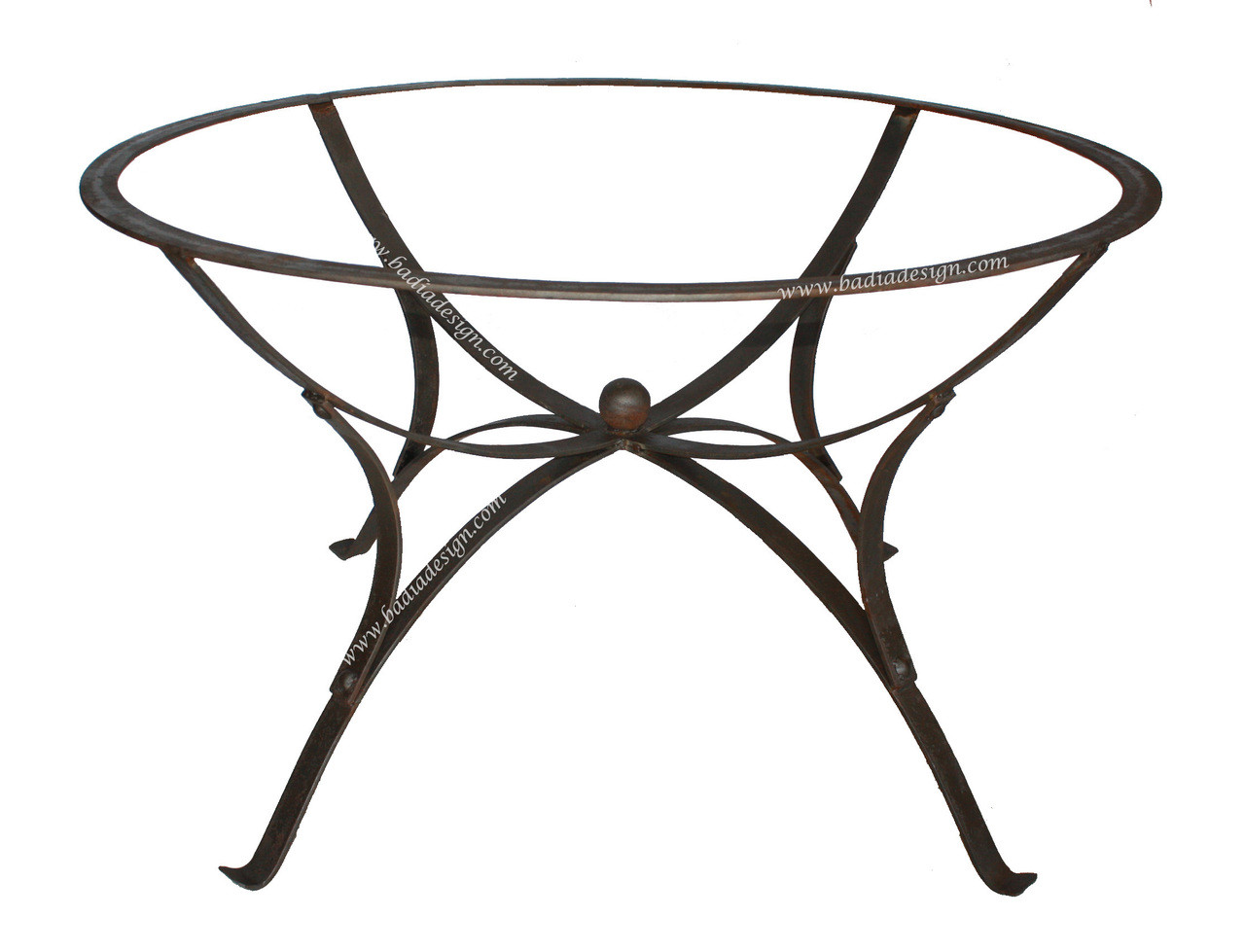 Moroccan round wrought iron table base for moroccan mosaic for Wrought iron side table base