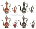 Decorative Metal and Ceramic Teapot - CER011