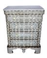 Mother of Pearl Inlaid 4-Drawer Dresser with White Marble Top - MOP-DR030