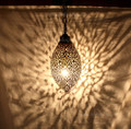 Moroccan Hanging Brass Lantern - LL087