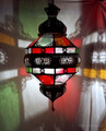 Hanging Lantern with Multi Color Glass - LIG097