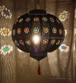 Moroccan Dark Tin Lantern - LIG100