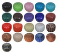 Moroccan Leather Ottoman - RLP003