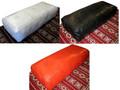 Moroccan Rectangular Leather Ottoman - RLO003