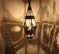 Hanging Lantern with Multi Color Glass - LIG129