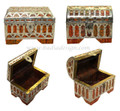 Moroccan Metal and Bone Jewelry  Box - HD134