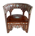 Mother of Pearl Inlaid Handcrafted Chair - MOP-CH014