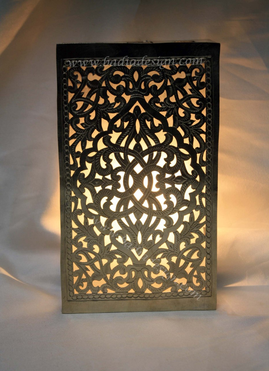 Moroccan Silver Metal Wall Sconce From Badia Design Inc