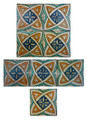Moroccan Mosaic Hand Painted Tiles - CT033