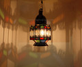 Moroccan Lighting Fixture with Multi Color Glass - LIG150