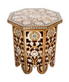 White Mother of Pearl Inlay Side Table - MOP-ST039
