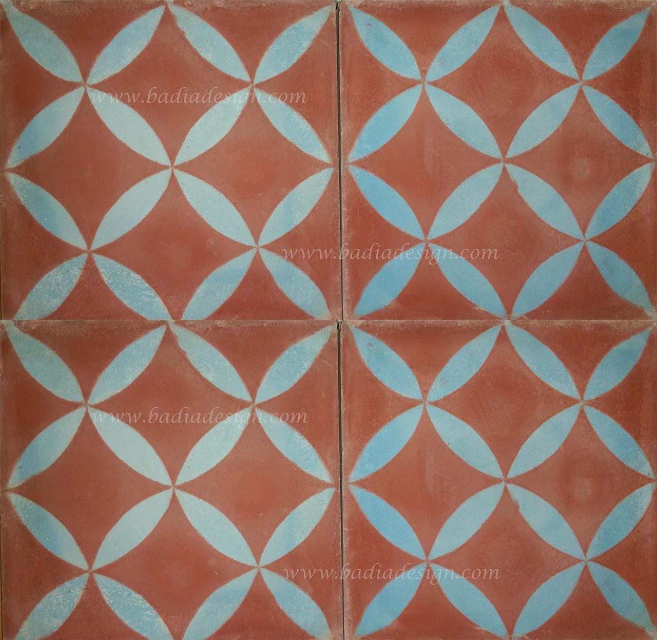 Moroccan Mosaic Cement Floor Tile From Badia Design Inc