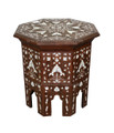 White Mother of Pearl Inlay Side Table - MOP-ST041