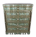 Syrian 5-Drawer Dresser with White Marble Top - MOP-DR045