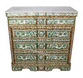 Syrian 4-Drawer Dresser with White Marble Top - MOP-DR047