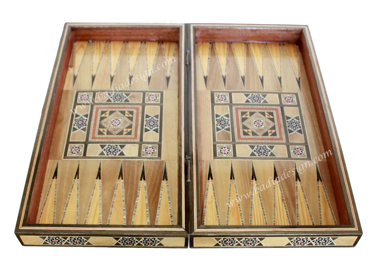 Inlaid Backgammon Board Game