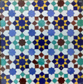 Moroccan Mosaic Hand Painted Tile - TM038