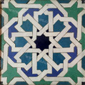Moroccan Mosaic Hand Painted Floor Tile - TM039
