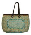 Moroccan Straw Lined Handbag - HB003-BL