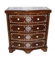 Large Carved Wood Bone Inlay Dresser - CW-CA034