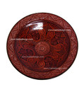 Hand Painted Carved Red Ceramic Platter CER34-RED