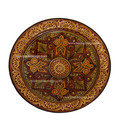 Hand Painted Carved Brown Ceramic Platter CER34-BRN