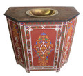 Hand Painted Wooden Bathroom Vanity with Sink - HP-CA034