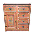 Hand Painted Wooden Cabinet - HP-CA039