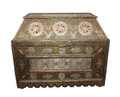 Vintage Metal and Orange Bone Trunk - MB-T008