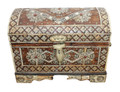 Small Vintage Metal and White Bone Trunk - MB-T009