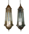 Teardrop Shaped Brass and Silver Ceiling Light - LIG300