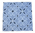 Moroccan Hand Painted Square Cement Tile - CT091