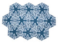 Moroccan Hexagon Shaped Cement Tile - CT099