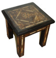 Bone Inlay Square Side Table - BL-ST001