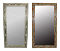 Rectangular Camel Bone and Brass Mirror - M-MB004