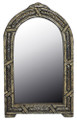 Pointed Arch Top Rectangular Beige Camel Bone and Metal Mirror M-MB003-BEI
