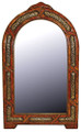 Pointed Arch Top Rectangular Orange Camel Bone and Metal Mirror M-MB003-ORG