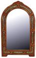 Pointed Arch Top Rectangular Orange Camel Bone and Metal Mirror M-MB003-ORG