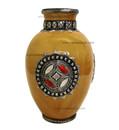 Metal and Bone Large Yellow Ceramic Vase CER76-YEL