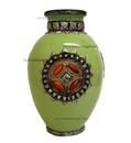 Metal and Bone Large Lime Green Ceramic Vase CER76-LG