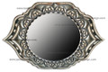 Metal and Bone Pointed Oval Mirror M-MB011