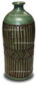 Large Moorish Green Ceramic and Metal  Urn - VA012